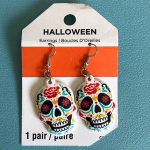 🛍3/$20 Sugar Skull Earrings Halloween Nickel Free